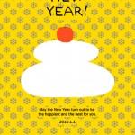 2010年 年賀状「鏡餅」